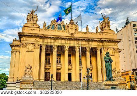 Tiradentes Palace Housing Legislative Assembly Of Rio De Janeiro, Brazil