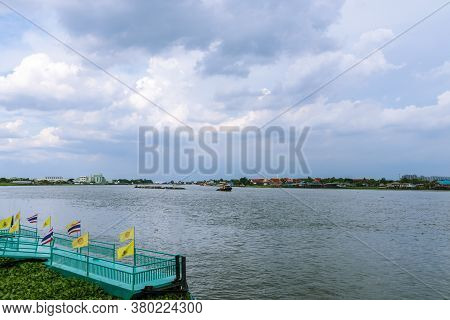 View Of The City And The Chao Phraya River In Nonthaburi Province In Thailand
