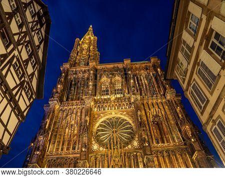 Cathedral Notre dame de Strasbourg in Alsace France
