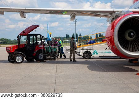 Kyiv, Ukraine - June 23, 2020: Airbus A320-214, Czech Airlines Aircraft Ok-heu. The Plane Lands At T