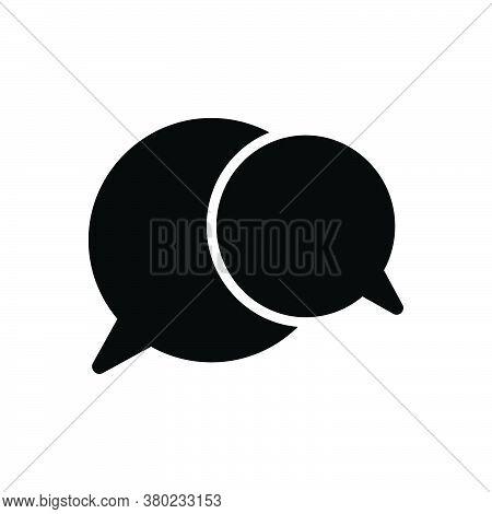 Black Solid Icon For Speech-bubble Talk Oration Harangue Recitative Speak Chat Gossip Communication
