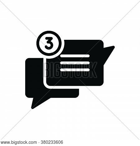 Black Solid Icon For Chat Chatter Conversation Gossip Converse Babble Dialog Speak Speech