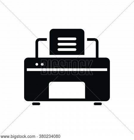 Black Solid Icon For Printer Publisher Compositor Typographer Pressperson Digital Electronics Print