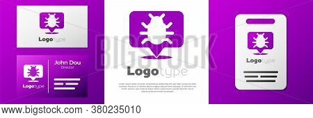 Logotype System Bug Concept Icon Isolated On White Background. Code Bug Concept. Bug In The System.