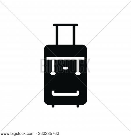 Black Solid Icon For Suitcase Portmanteau Valise Satchel Baggage Luggage Case Portifolio Travel