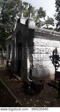 Crypts In The Cemetery Are Old