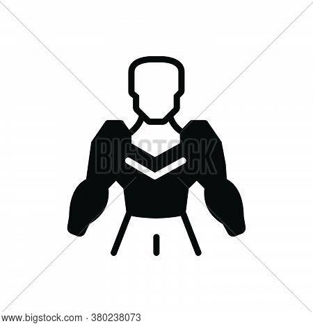 Black Solid Icon For Humanoid Cyborg Algorithm Robotic Innovation Electronics Mechanical