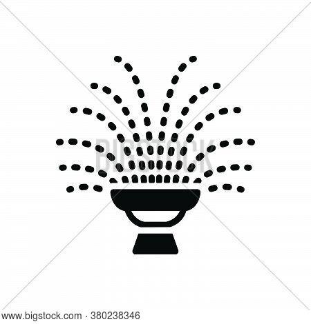 Black Solid Icon For Fountain Wellhead Geyser Reservoir Stream Artificial Architecture Waterworks Wa