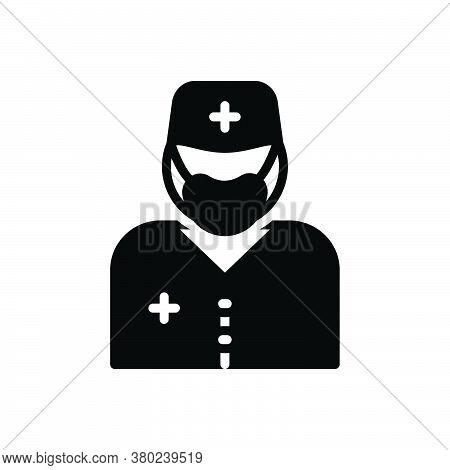 Black Solid Icon For Surgeon Sawbones  Specialist Doctor Healer Physician Therapist Surgery Operatio