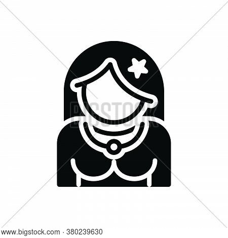 Black Solid Icon For Actress Cinema Celebrity Actor Famous Entertainment Superstar Character Cinemat