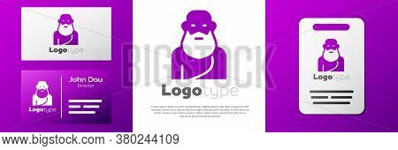 Logotype Socrates Icon Isolated On White Background. Sokrat Ancient Greek Athenes Ancient Philosophy
