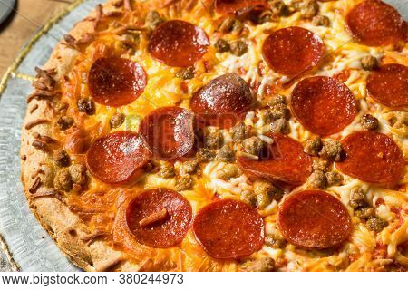 Homemade Meat Lovers Pepperoni Pizza