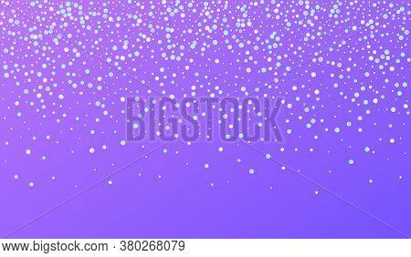 Colored Shine Top Blue Background. Hologram Effect Splash Invitation. Carnaval Banner. Multicolored