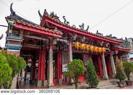 Changhua, Taiwan - July 27th, 2020: Yuan-ching Temple in Changhua County, Taiwan, Asia