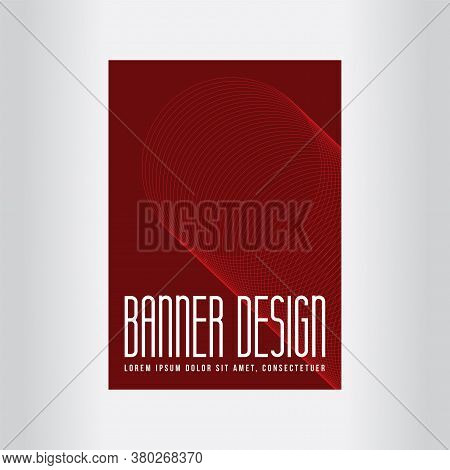 Red Poster Design. Minimal Covers Design. Future Geometric Patterns. Flat And 3d Design Elements. Re