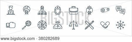 Life Skills Line Icons. Linear Set. Quality Vector Line Set Such As Skills, Ruler, Brain, Boxing Glo
