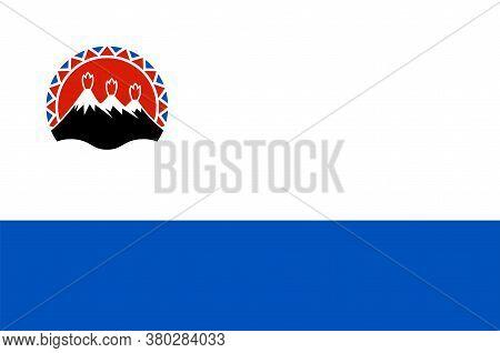 Flag Of Kamchatka Krai In Russian Federation