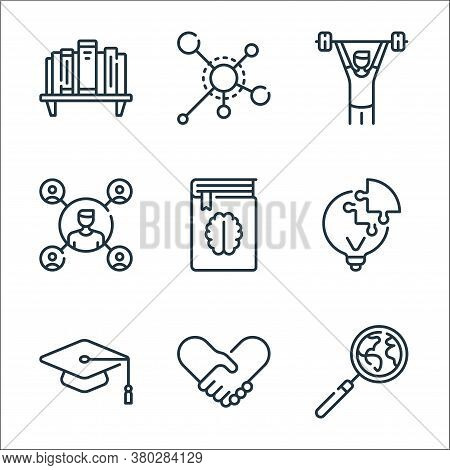 Life Skills Line Icons. Linear Set. Quality Vector Line Set Such As Magnifying Glass, Handshake, Mor