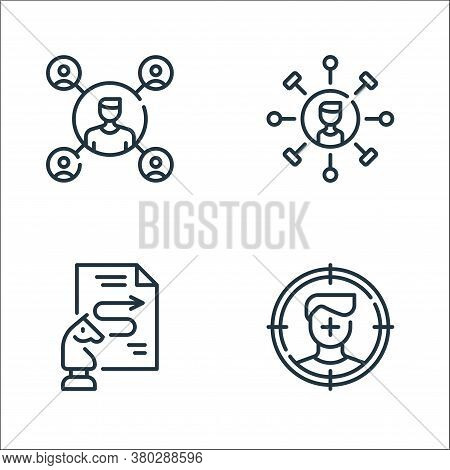 Life Skills Line Icons. Linear Set. Quality Vector Line Set Such As Target, Process, Skills
