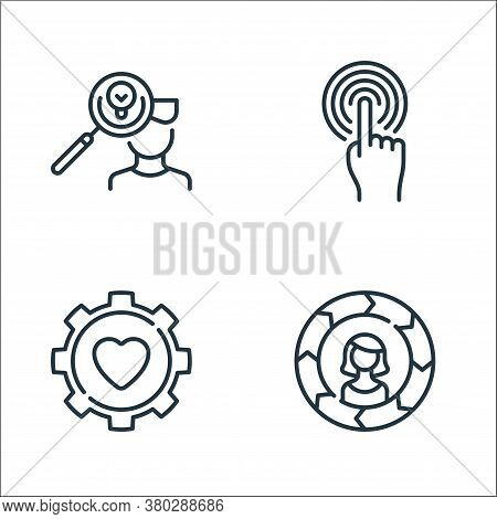 Life Skills Line Icons. Linear Set. Quality Vector Line Set Such As Skills, Gear, Touch
