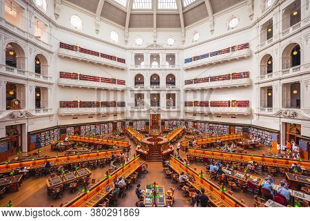 December 29, 2018: The La Trobe Reading Room Of State Library Of Victoria, Designed To Hold Over A M