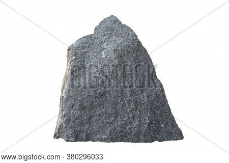 Diorite Rock Isolated On White Bakground Included Clipping Path.