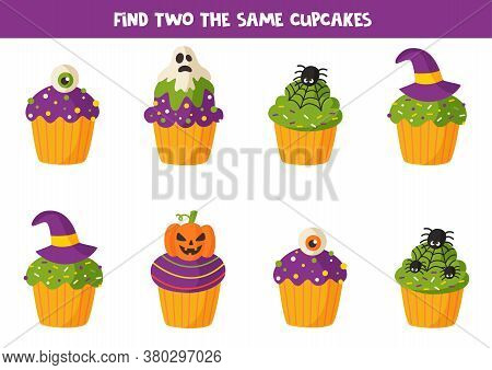 Find Two The Same Halloween Muffin Treats.