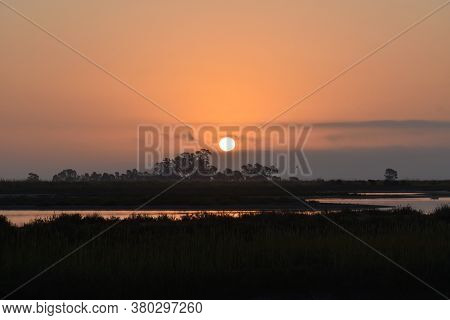 Gorgeous Wetland Sunrise In Northern California High Quality
