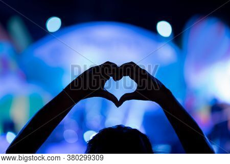 Music Brand Showing On Stage Or Concert Live And Defocused Entertainment Concert Lighting On Stage W