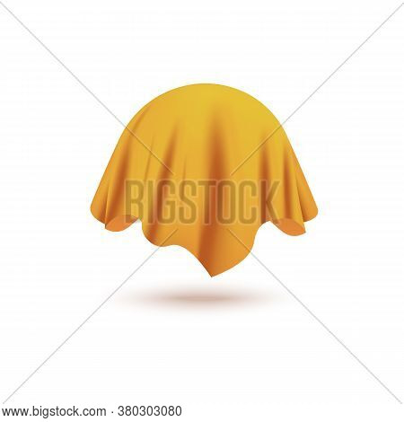 Silk Yellow Curtain Cover Covering Invisible Sphere Object