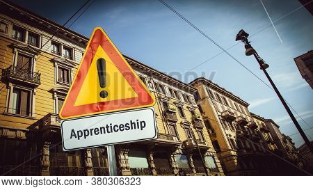 Street Sign The Direction Way To Apprenticeship