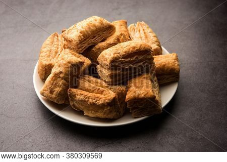 Khari Puff Pastry Or Kharee Biscuits, Indian Breakfast