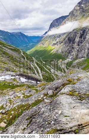 Trollstigen Mountain Viewpoint And Pass Along National Scenic Route Geiranger Trollstigen More Og Ro