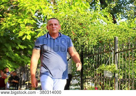 Dnipro, Ukraine. 2017 06 17. The Scandalous Famous Blogger Maxim Buzhansky Walks Down The Street. Ma