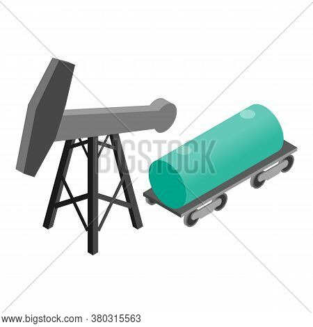 Petroleum Industry Icon. Isometric Illustration Of Petroleum Industry Vector Icon For Web