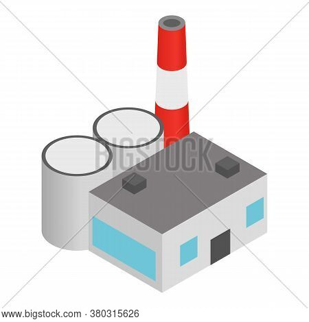 Coal Plant Icon. Isometric Illustration Of Coal Plant Vector Icon For Web