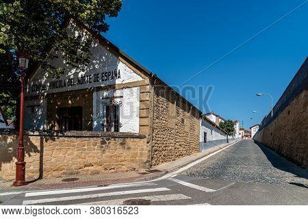 Haro, Spain - August 6, 2020: Cvne, Wine Company Of Northern Spain Winery