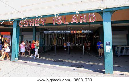 Coney Island Subway Station Entrance