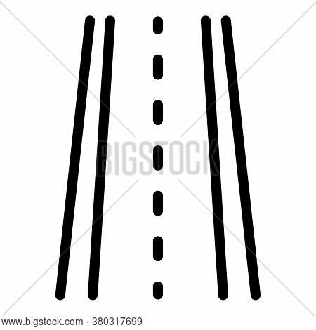 Driving Road Icon. Outline Driving Road Vector Icon For Web Design Isolated On White Background
