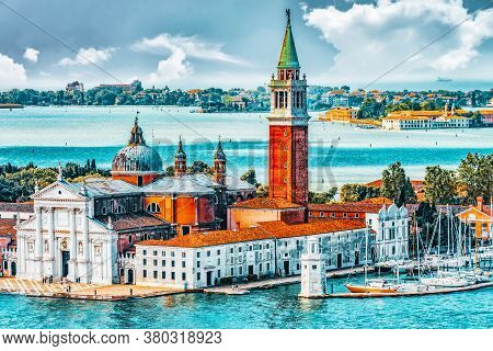Panoramic View Of Venice From The Campanile Tower Island Of Saint Giorgio Maggiore(isola Di S. Giorg