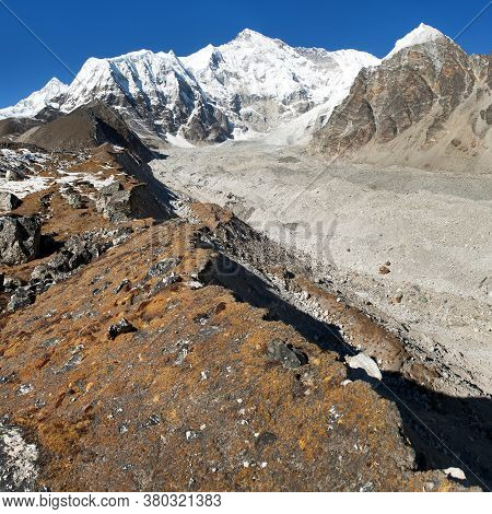 Panoramic View Of Mount Cho Oyu, One Of The Highest Mountain In The World - Sagarmatha National Park
