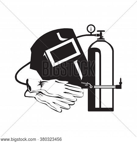 Welder Icon Vector. Welder Vector Graphic Illustration