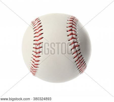 Traditional Baseball Ball Isolated On White. Sportive Equipment