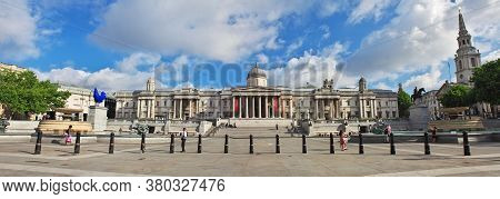 London / Uk - 28 Jul 2013: Trafalgar Square In London City, England