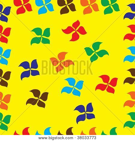 Seamless pattern with read flowers