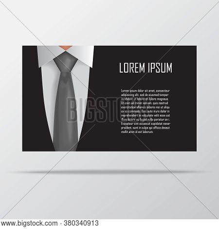 Shirt And Tie Business Card Template Vector Illustration