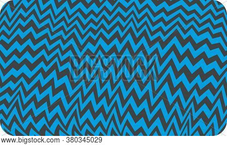Cartoon Electric Tv Static Interference Zigzag Pattern In Cyan And Black With Rounded Corners