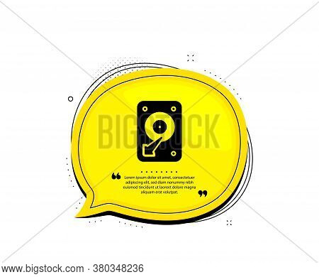 Hdd Icon. Quote Speech Bubble. Hard Disk Storage Sign. Hard Drive Memory Symbol. Quotation Marks. Cl