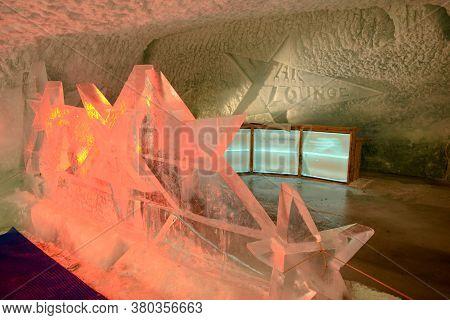 Ice Sculpture Of Matterhorn Glacier Paradise At Mount Small Matterhorn Over Zermatt In The Swiss Alp