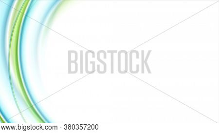 Blue green abstract smooth liquid waves background
